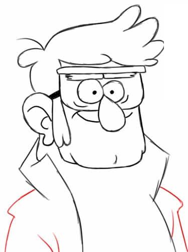 Как рисовать Форда Пайнса