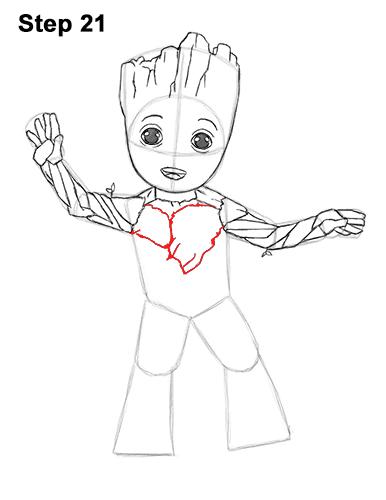 как нарисовать Грута