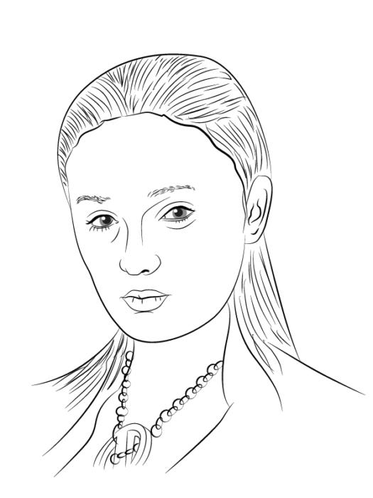 как рисовать Сансу Старк