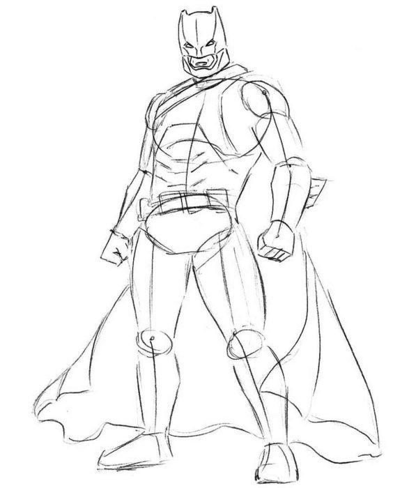 Как нарисовать Бэтмена