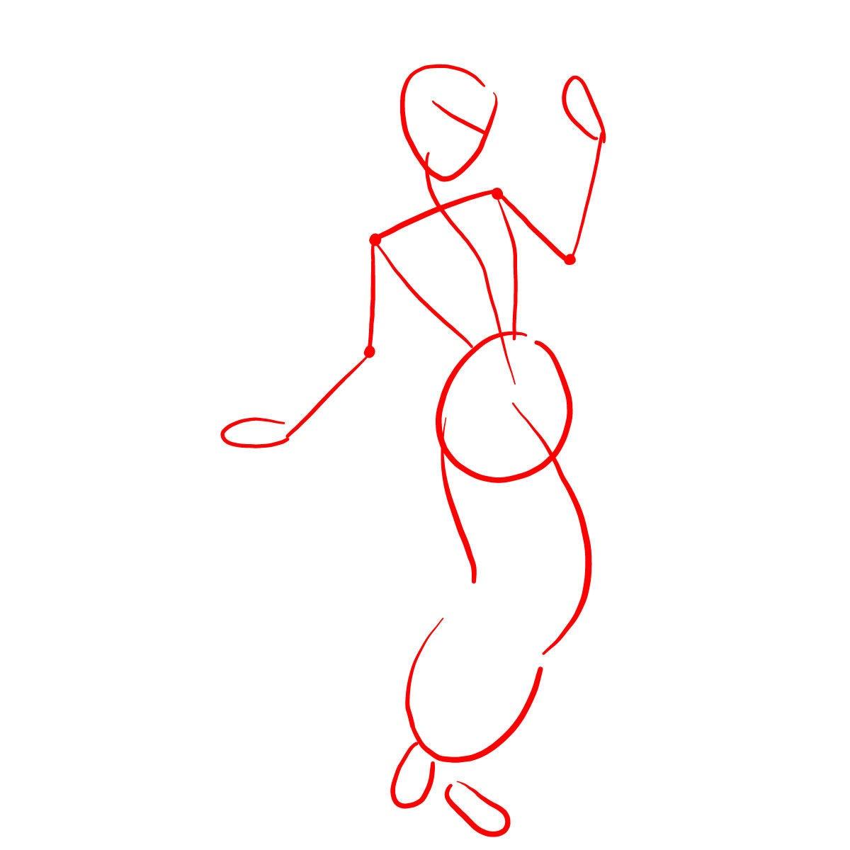 просто рисуем Жасмин 1