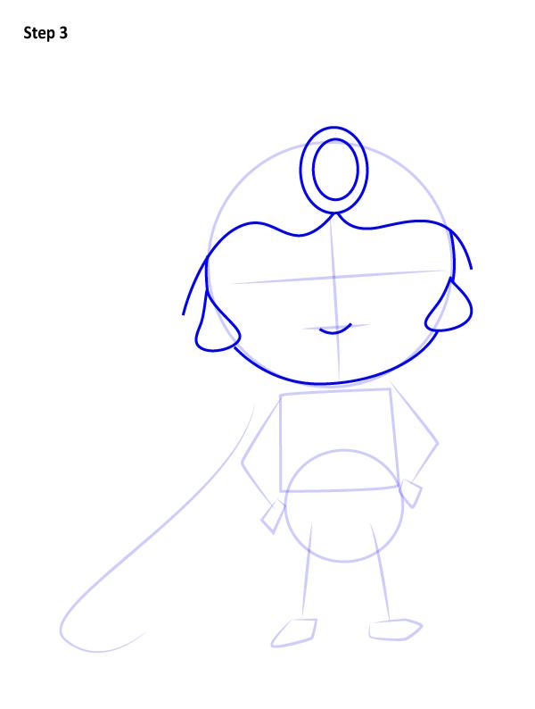 Как нарисовать милую Жасмин 3