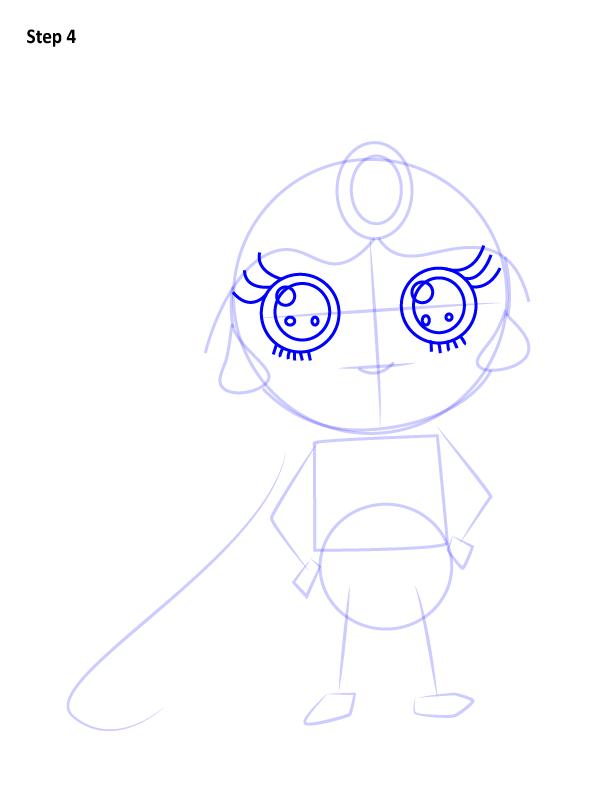Как нарисовать милую Жасмин 4