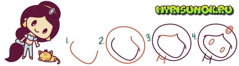 Как нарисовать Жасмин поэтапно