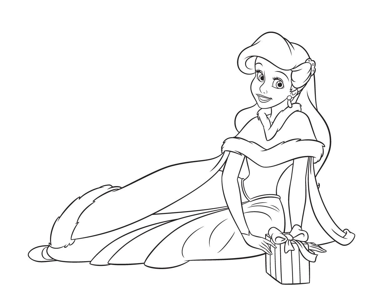 Excepcional Princesas De Disney Para Colorear Ariel Patrón ...