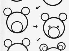 Рисуем животных из круга
