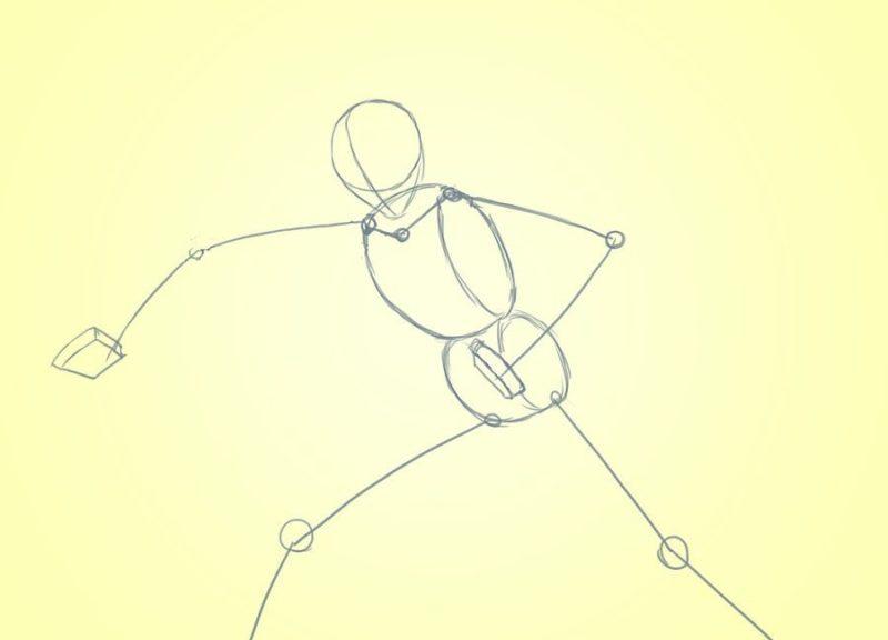 Как поэтапно нарисовать Слендермена 1