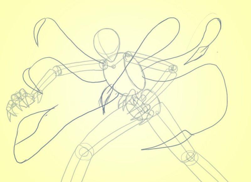 Как поэтапно нарисовать Слендермена 3