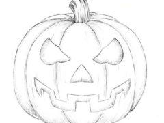 Рисуем тыкву на Хеллоуин