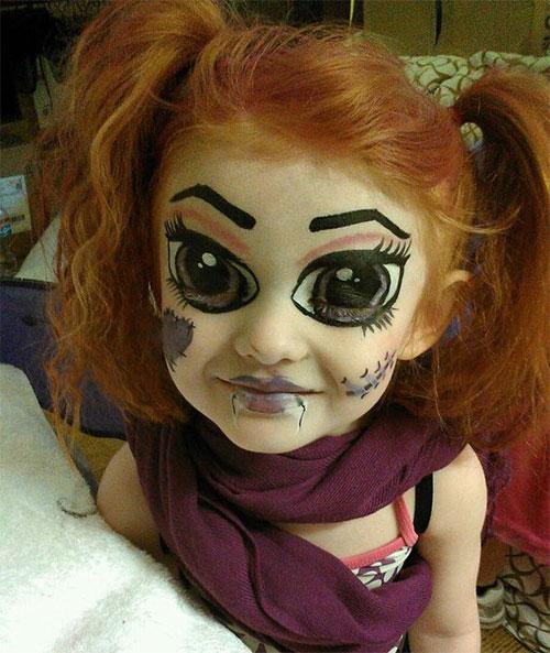 Грим на Хеллоуин для детей