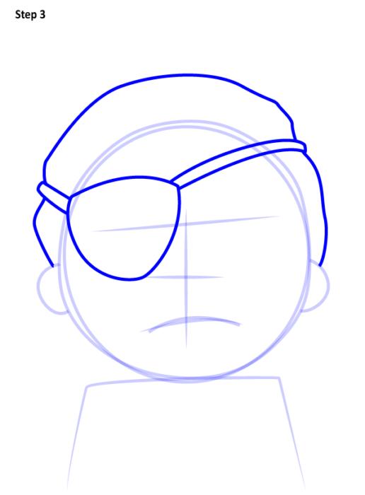 Как просто нарисовать злого Морти 3
