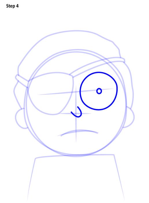 Как просто нарисовать злого Морти 4