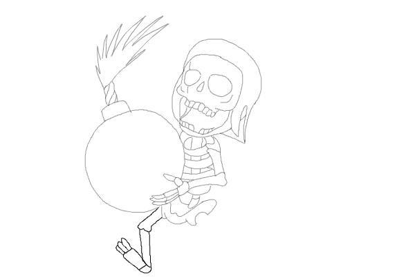 Рисуем бомбера из игры 10