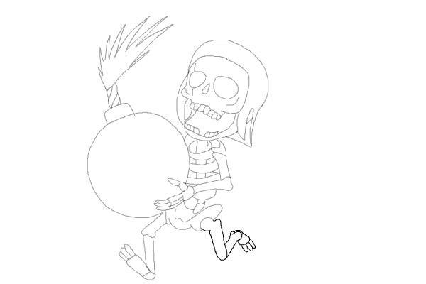 Рисуем бомбера из игры 11
