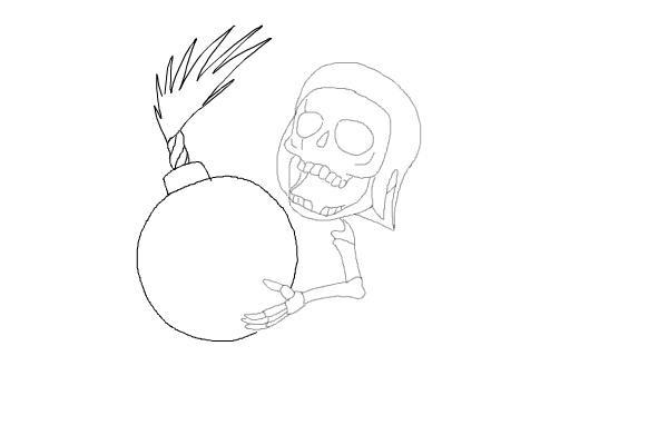 Рисуем бомбера из игры 6