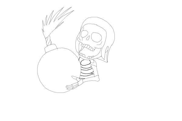 Рисуем бомбера из игры 7