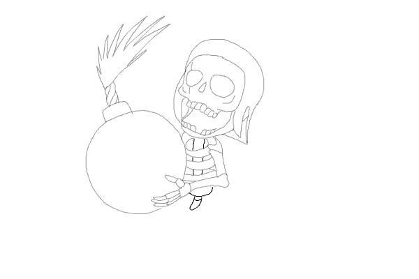 Рисуем бомбера из игры 8