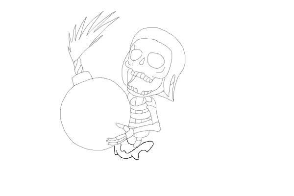Рисуем бомбера из игры 9