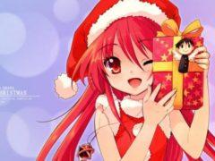 Рисуем новогоднюю девочку аниме