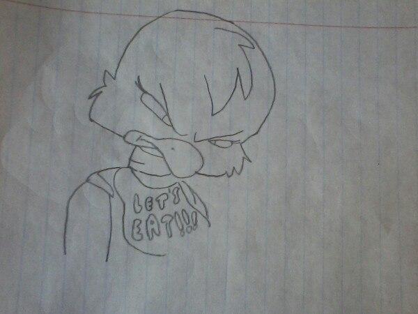 как нарисовать злую Чику из игры 5 ночей с Фредди