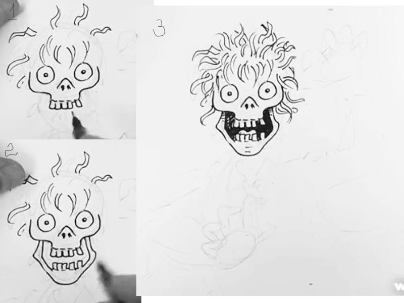 Как нарисовать зомби поэтапно