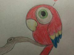 Рисуем попугая