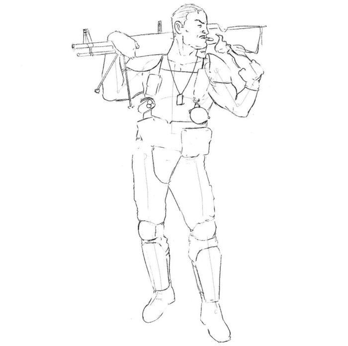 Как нарисовать Комедианта из Хранителей