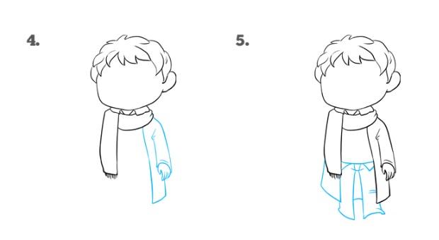 Как нарисовать Поттера 3