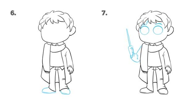 Как нарисовать Поттера 4