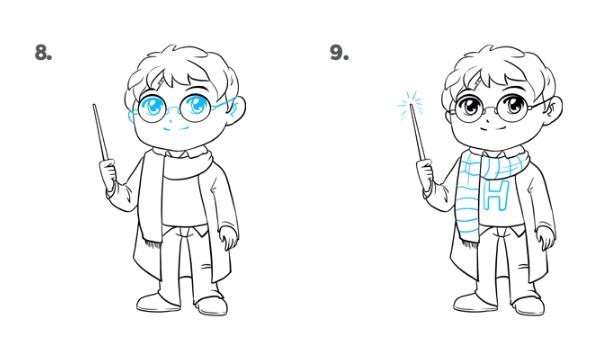 Как нарисовать Поттера 5
