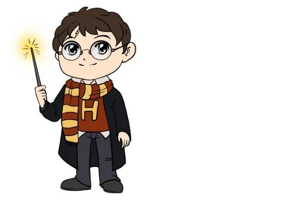 Как нарисовать Поттера 6