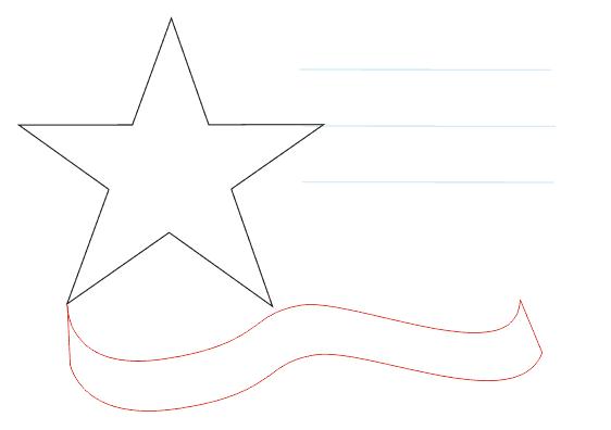 Как нарисовать 23 февраля