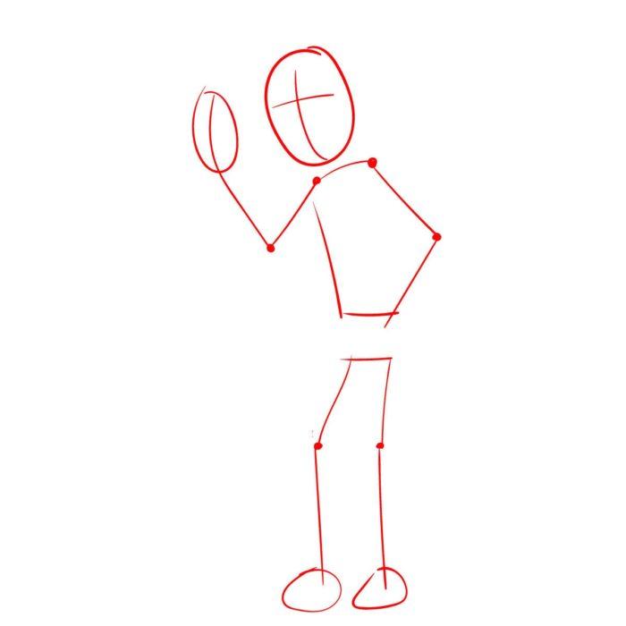 Рисуем Рика из мультика 1