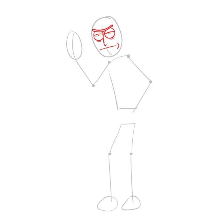 Рисуем Рика из мультика 2