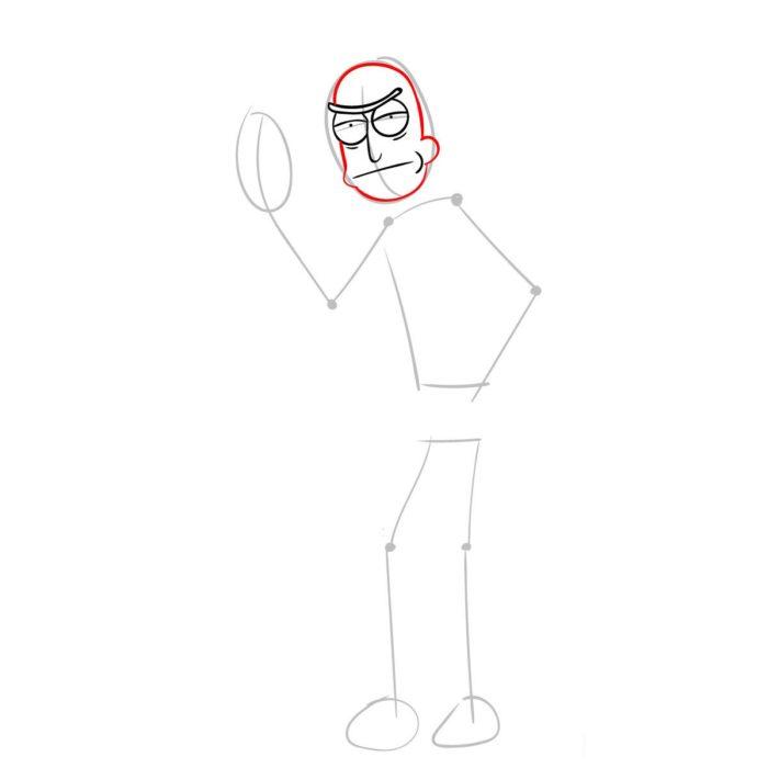 Рисуем Рика из мультика 3