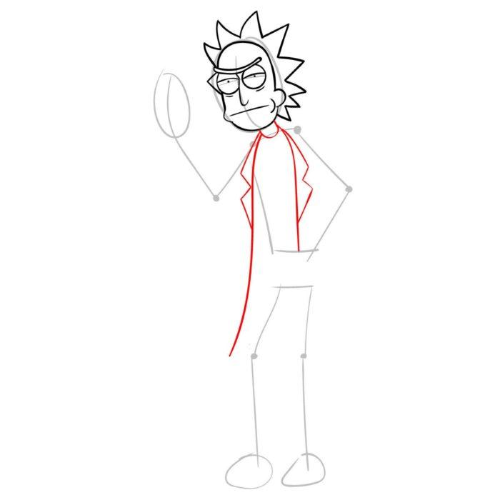 Рисуем Рика из мультика 5