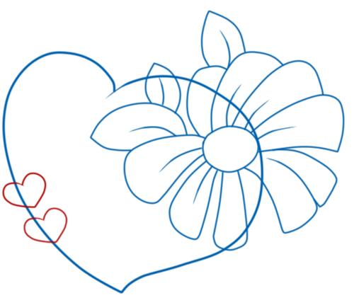 как нарисовать валентинку