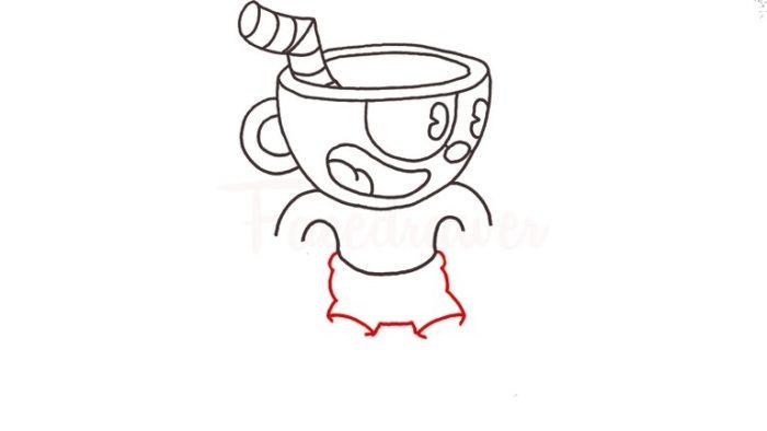 Как нарисовать Капхеда 8