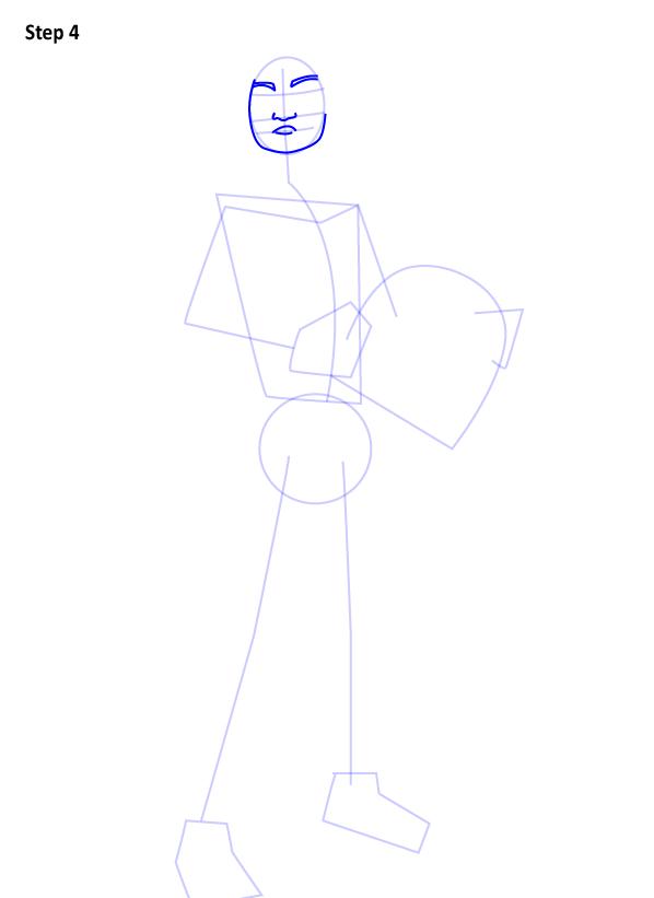 Как нарисовать Эзру Бриджера 3