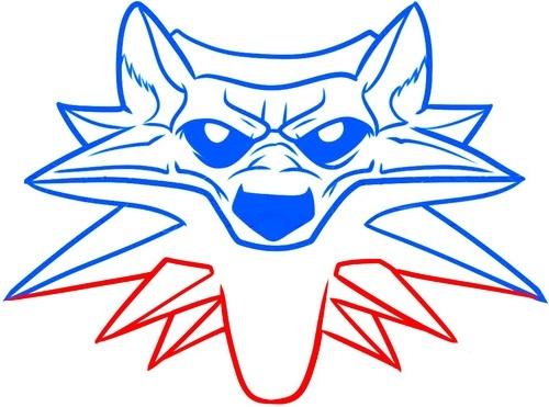 Рисуем школу волка из Ведьмака 5