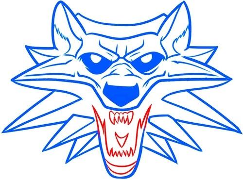 Рисуем школу волка из Ведьмака 6