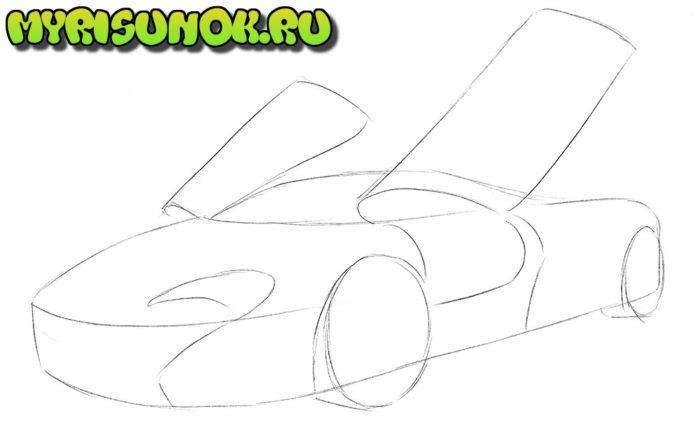 Как нарисовать суперкар McLaren 1