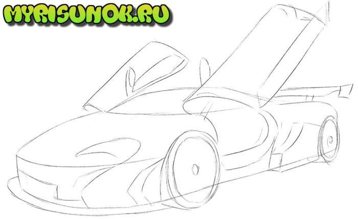 Как нарисовать суперкар McLaren 2
