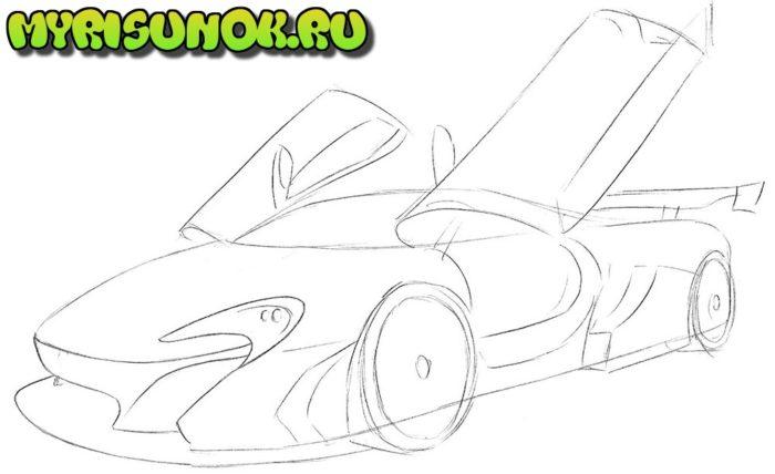 Как нарисовать суперкар McLaren 3