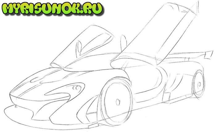 Как нарисовать суперкар McLaren 4