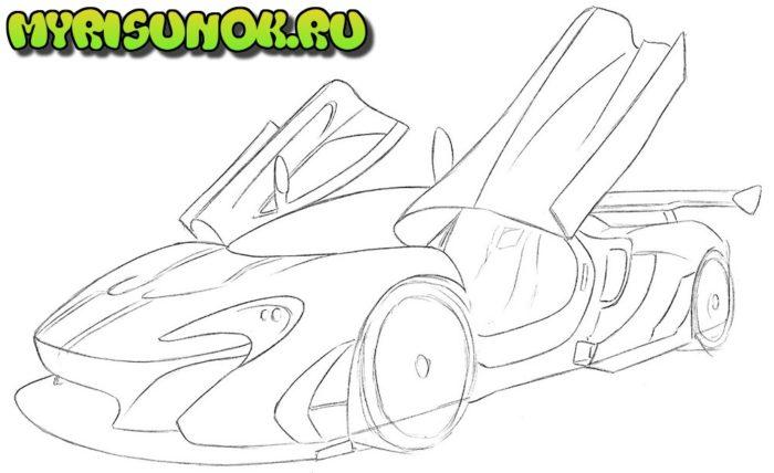 Как нарисовать суперкар McLaren 6