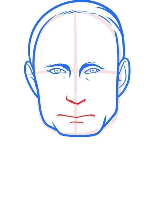 Рисуем Путина 5