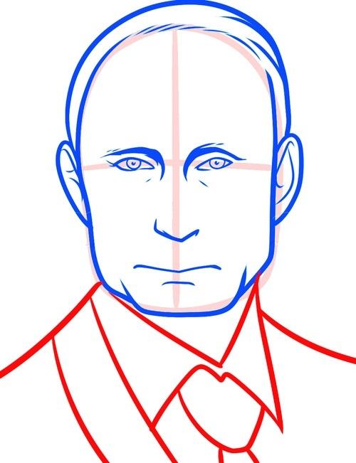 Рисуем Путина 6