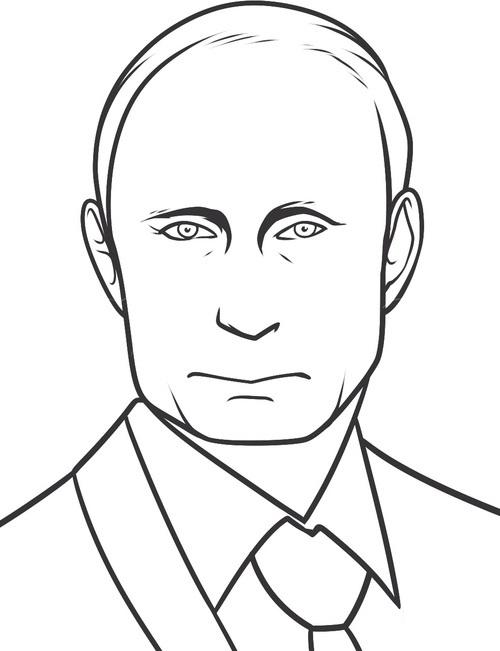 Рисуем Путина 7