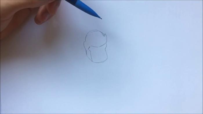 Как нарисовать чиби Таноса 1